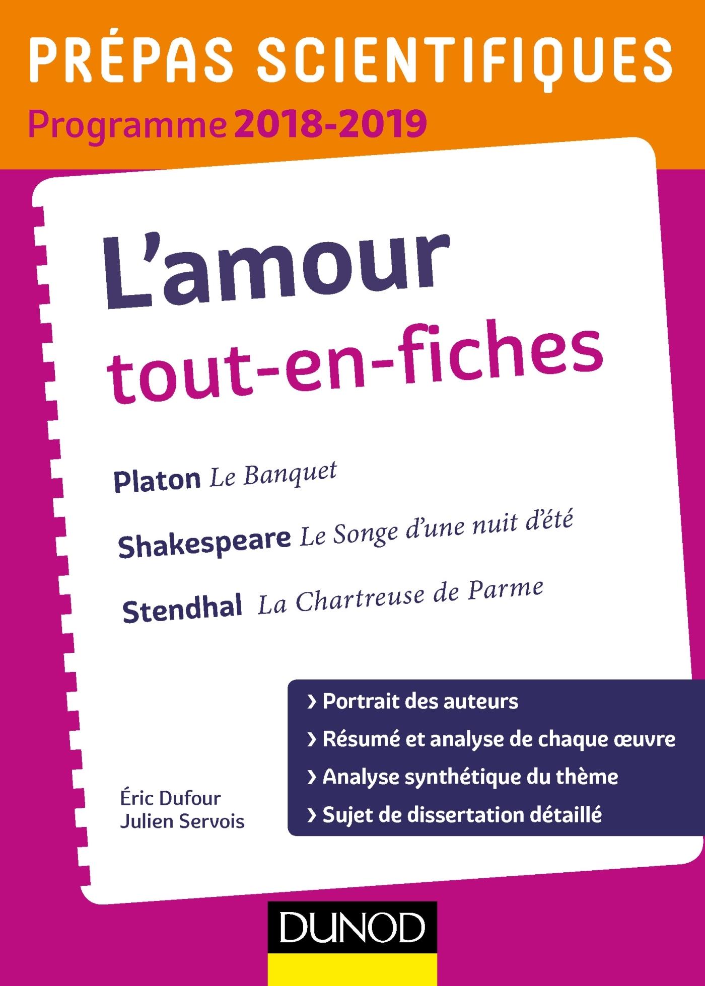 L'AMOUR TOUT-EN-FICHES - PREPAS SCIENTIFIQUES 2018-2019