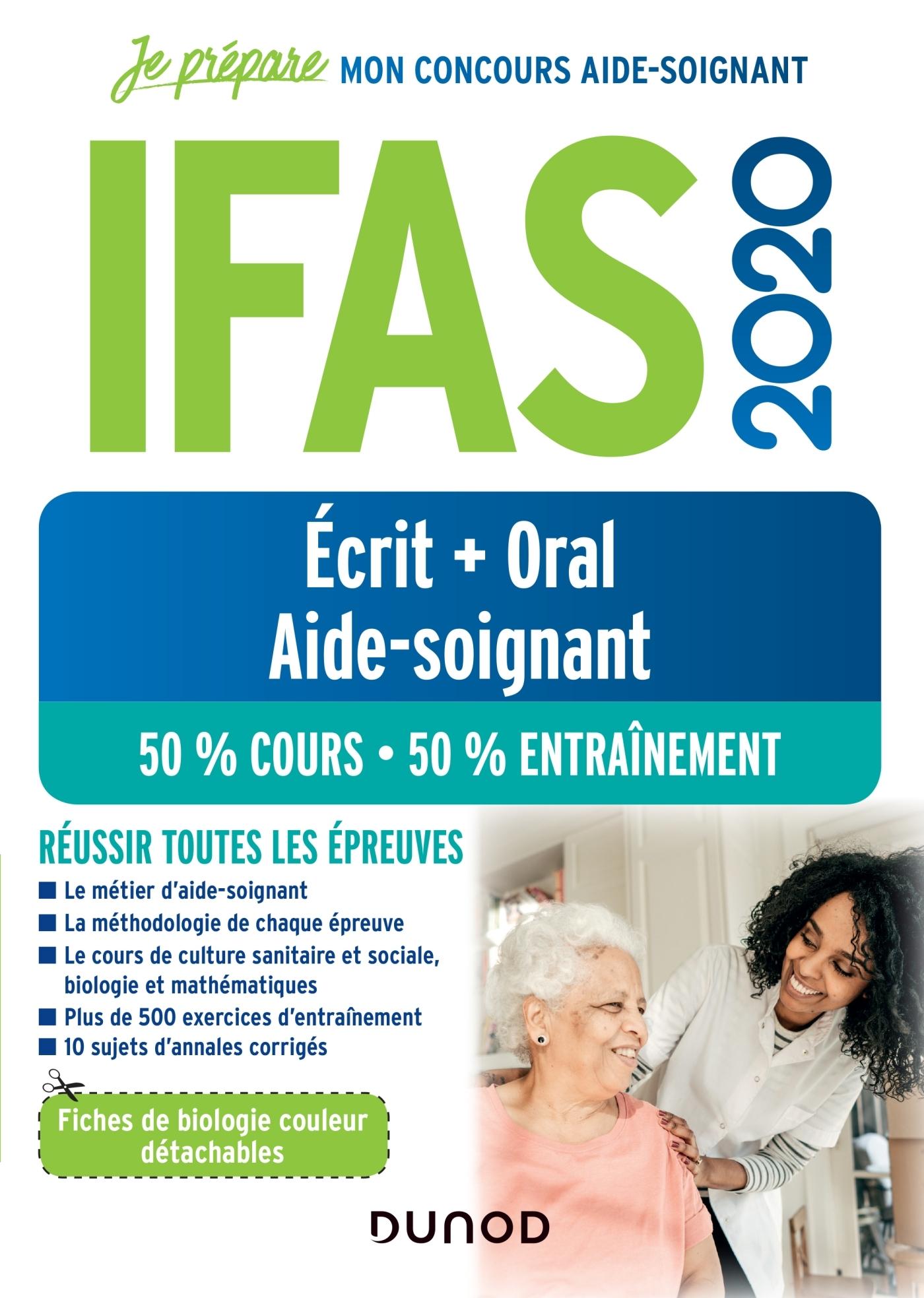 IFAS 2020 ECRIT + ORAL AIDE-SOIGNANT - 50% COURS - 50% ENTRAINEMENT - 50% COURS - 50 % ENTRAINEMENT
