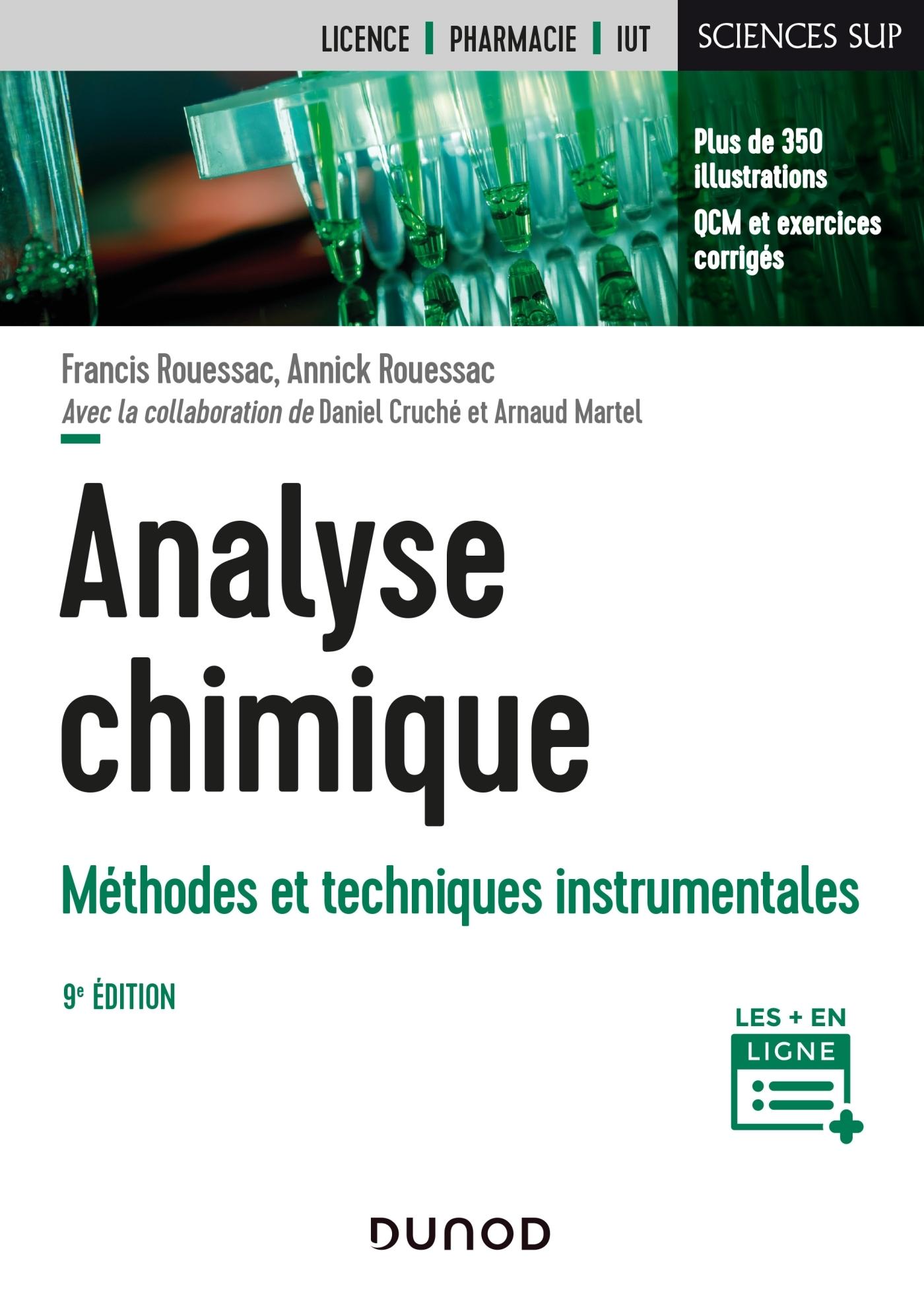 ANALYSE CHIMIQUE - 9E ED. - METHODES ET TECHNIQUES INSTRUMENTALES