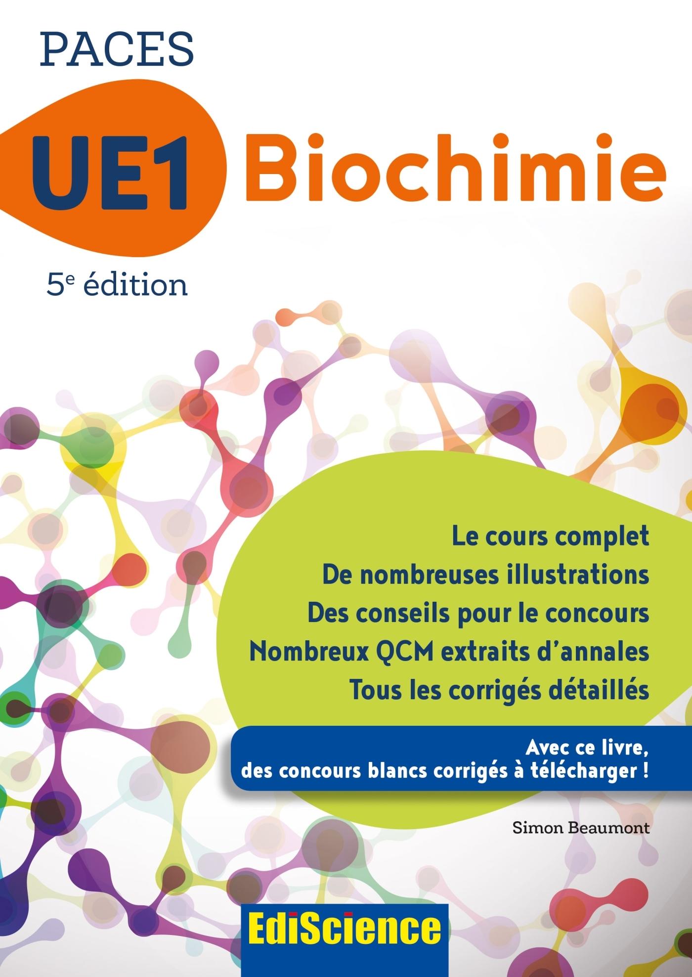 PACES UE1 BIOCHIMIE - 5E ED. - 1 - UE1 - T1