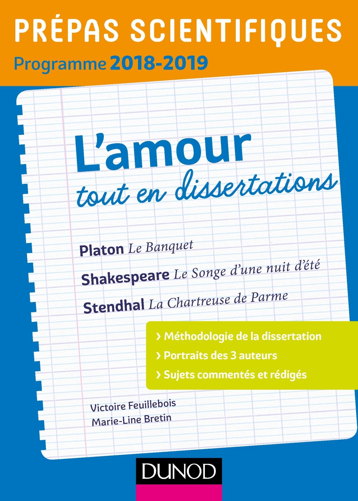 L'AMOUR TOUT EN DISSERTATIONS - PREPAS SCIENTIFIQUES - PROGRAMME 2018-2019