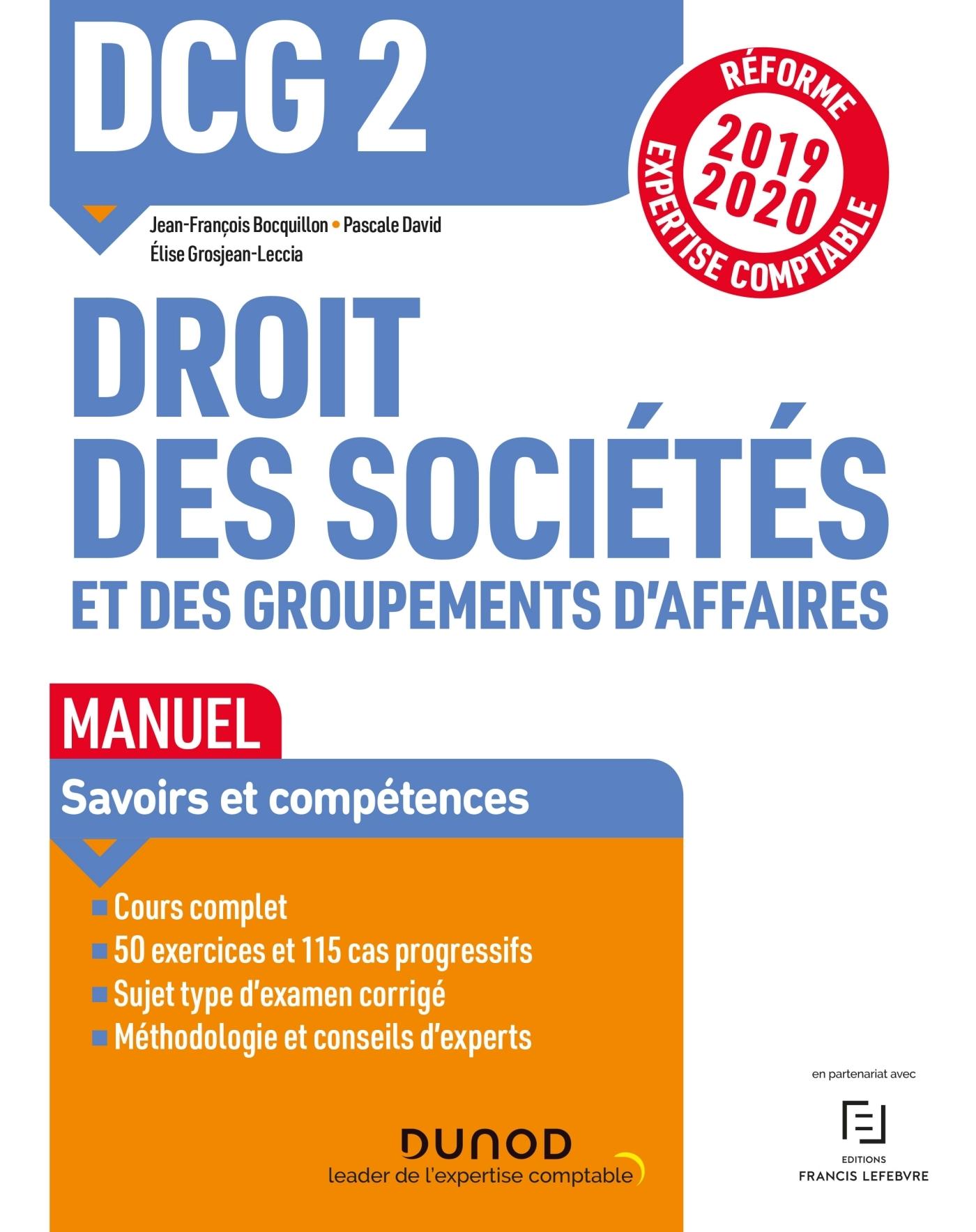 DCG 2 DROIT DES SOCIETES ET DES GROUPEMENTS D AFFAIRES - DCG 2 DROIT DES SOCIETES ET DES GROUPEMENTS
