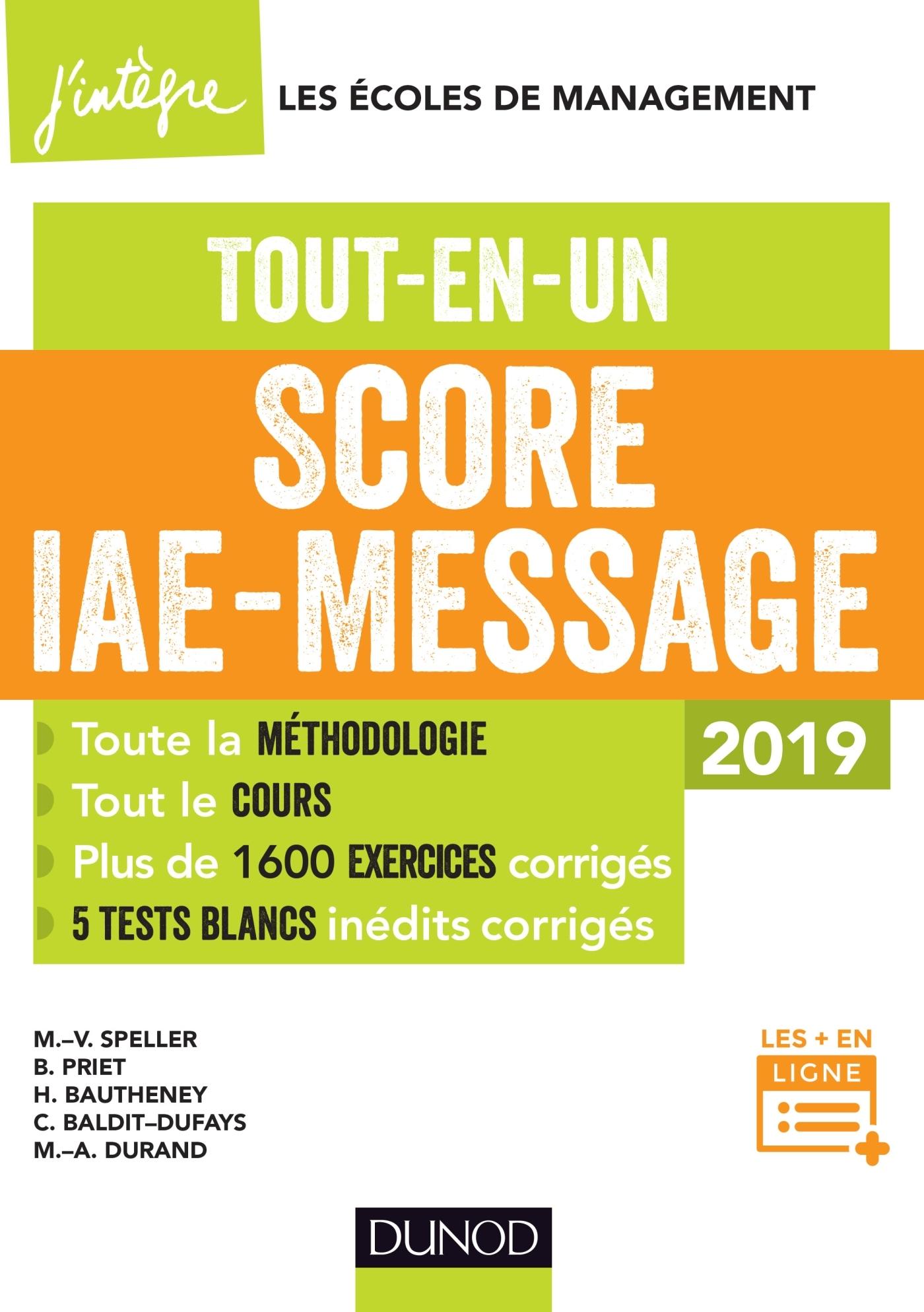 SCORE IAE MESSAGE - T1 - SCORE IAE-MESSAGE - 2019 - TOUT-EN-UN