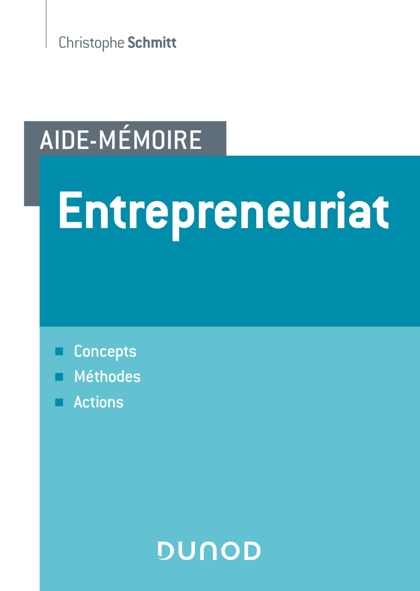 AIDE-MEMOIRE - ENTREPRENEURIAT - CONCEPTS, METHODES, ACTIONS