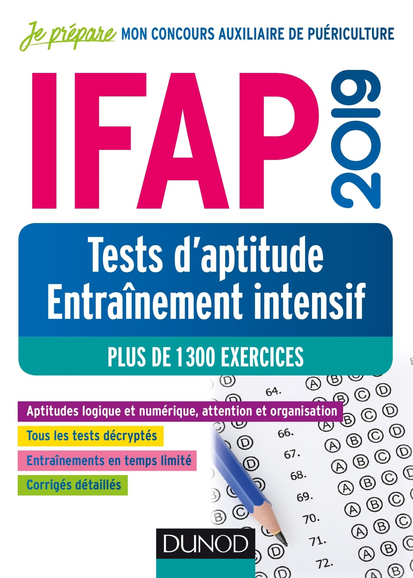 IFAP 2019  TESTS D'APTITUDE - ENTRAINEMENT INTENSIF - PLUS DE 1300 EXERCICES