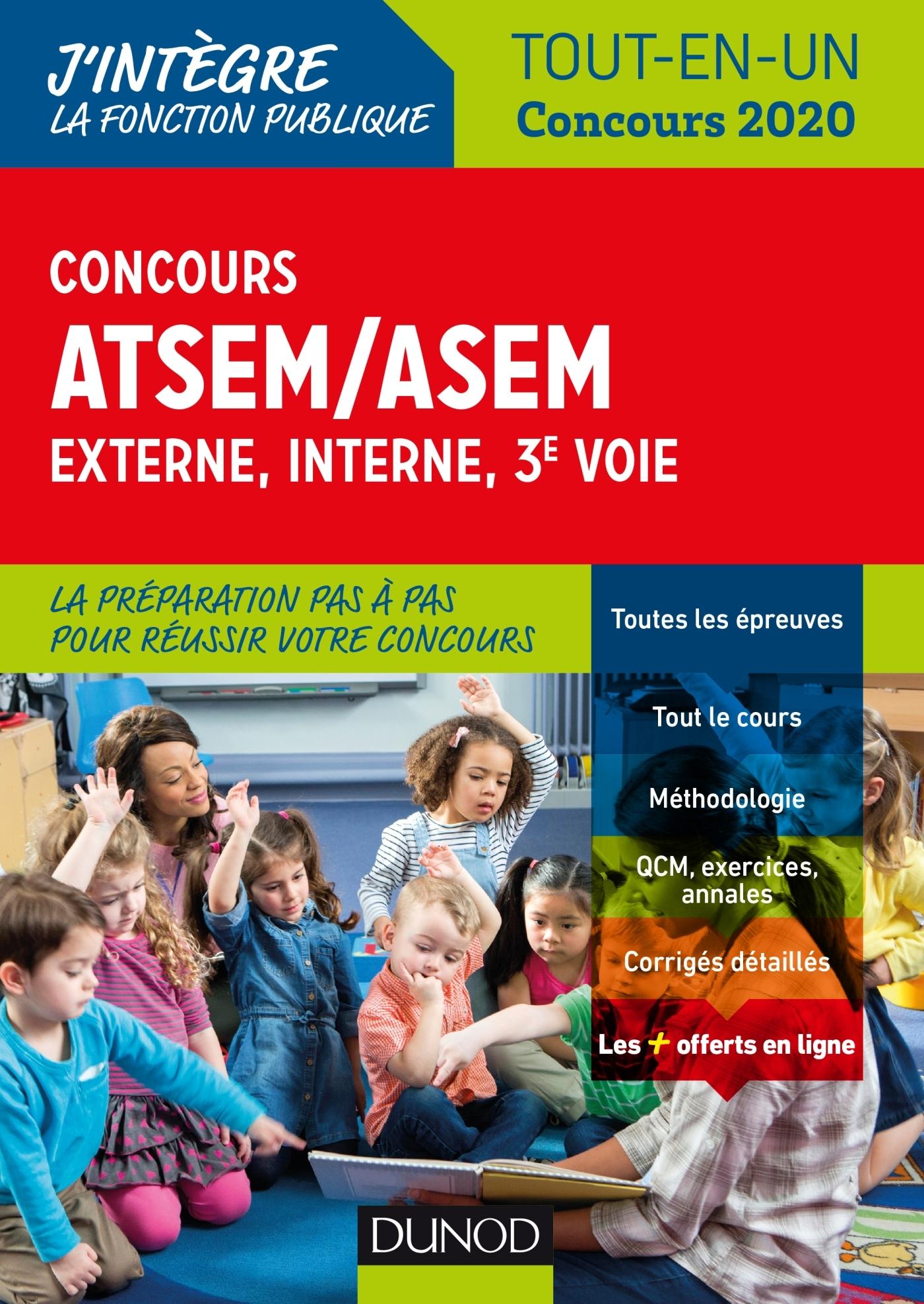 CONCOURS ATSEM/ASEM - EXTERNE, INTERNE, 3E VOIE - TOUT-EN-UN - CONCOURS 2020 - FONCTION PUBLIQUE TER