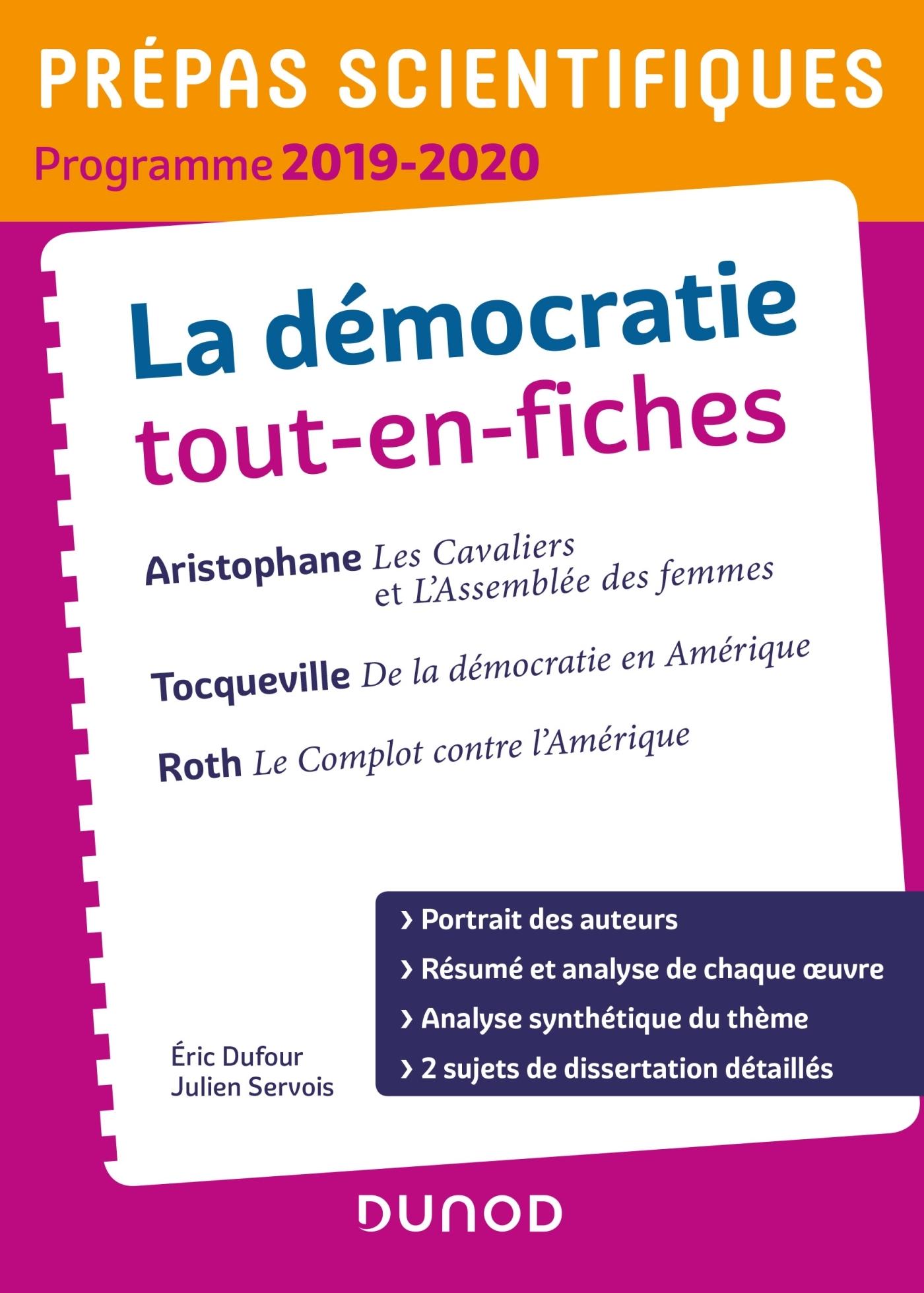 LA DEMOCRATIE TOUT-EN-FICHES - PREPAS SCIENTIFIQUES - PROGRAMME 2019-2020