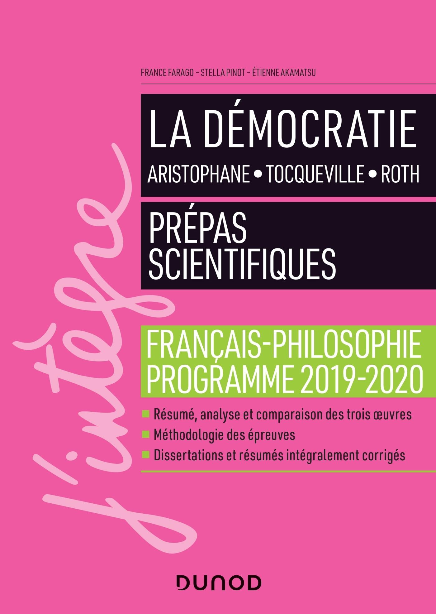 LA DEMOCRATIE - PREPAS SCIENTIFIQUES - PROGRAMME FRANCAIS-PHILOSOPHIE 2019-2020 - MANUEL
