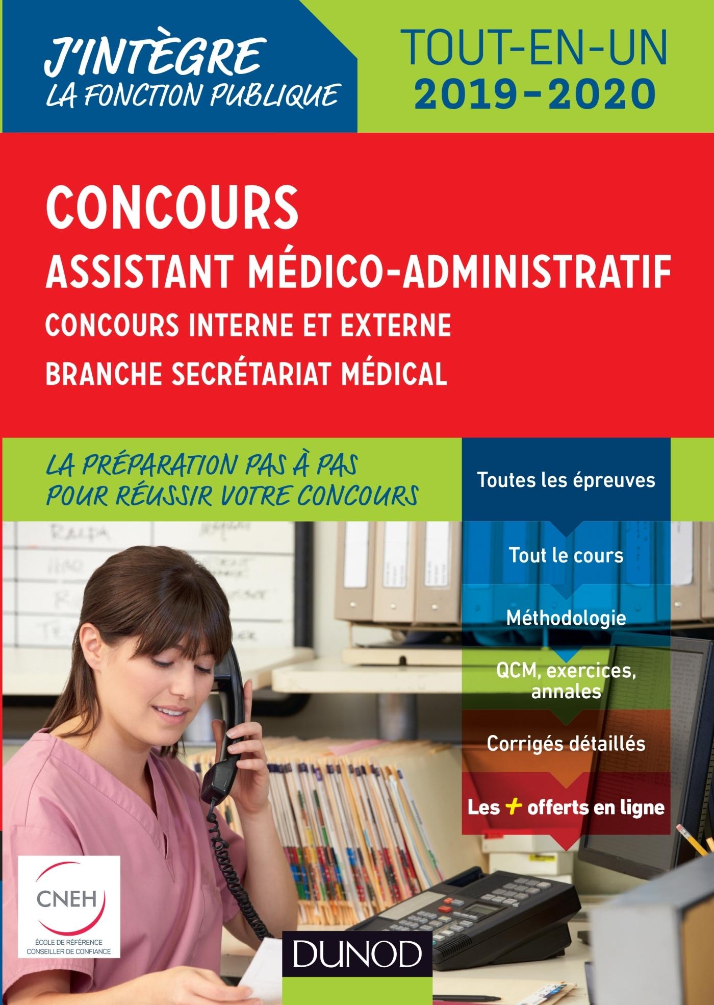 CONCOURS ASSISTANT MEDICO-ADMINISTRATIF 2019-2020 TOUT-EN-UN CATEGORIE B - CONCOURS EXTERNE ET INTER
