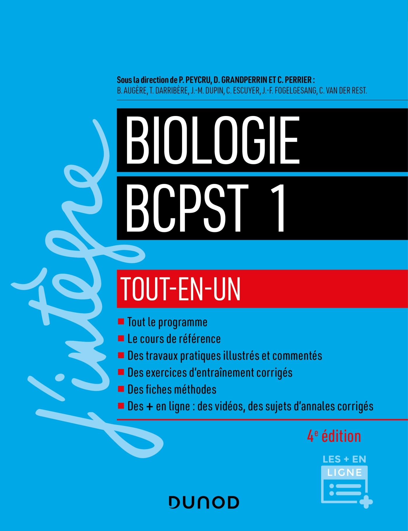 4 - COURS TOUT-EN-UN - BIOLOGIE TOUT-EN-UN BCPST 1RE ANNEE - 4E ED.