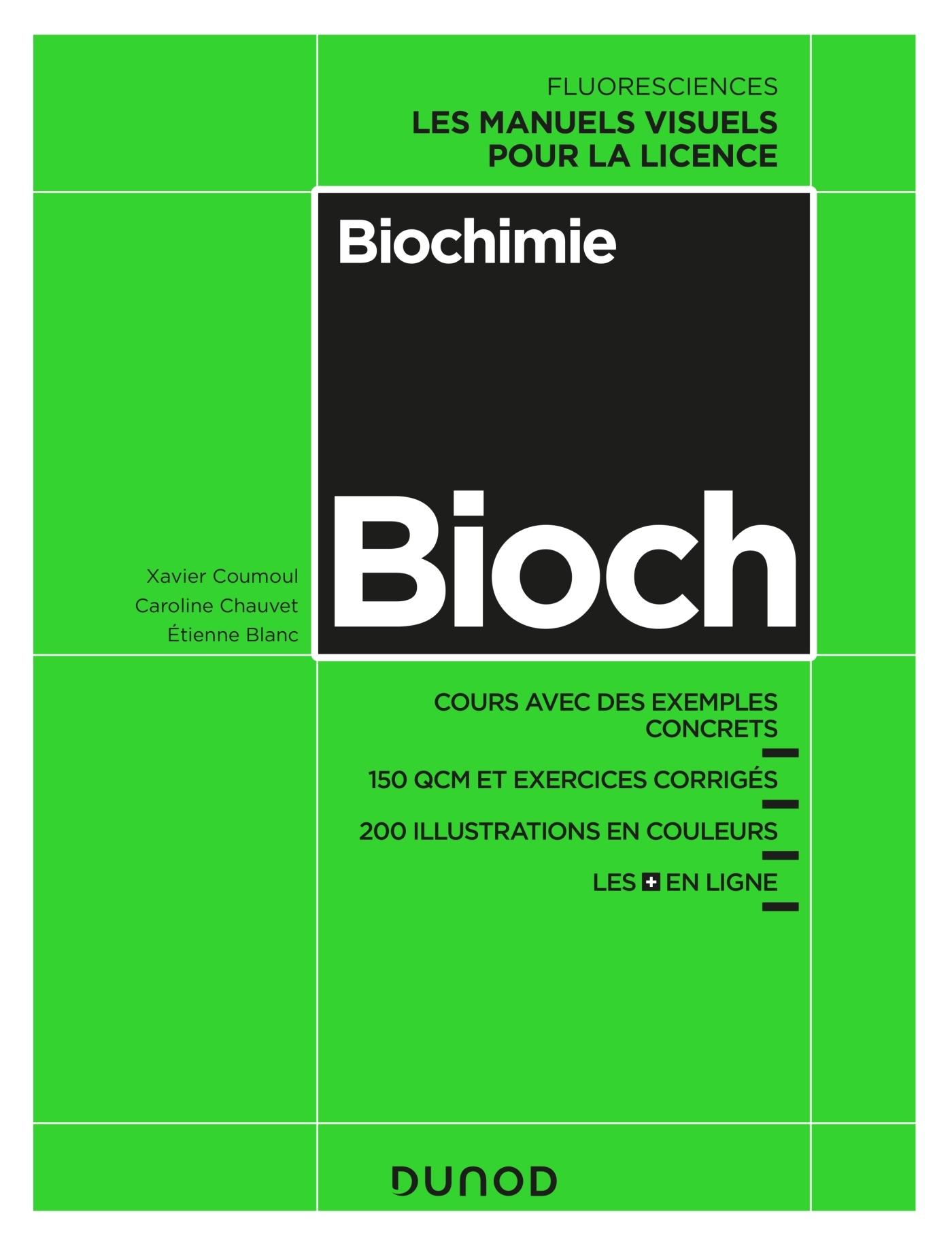 BIOCHIMIE - COURS AVEC EXEMPLES CONCRETS, QCM, EXERCICES CORRIGES
