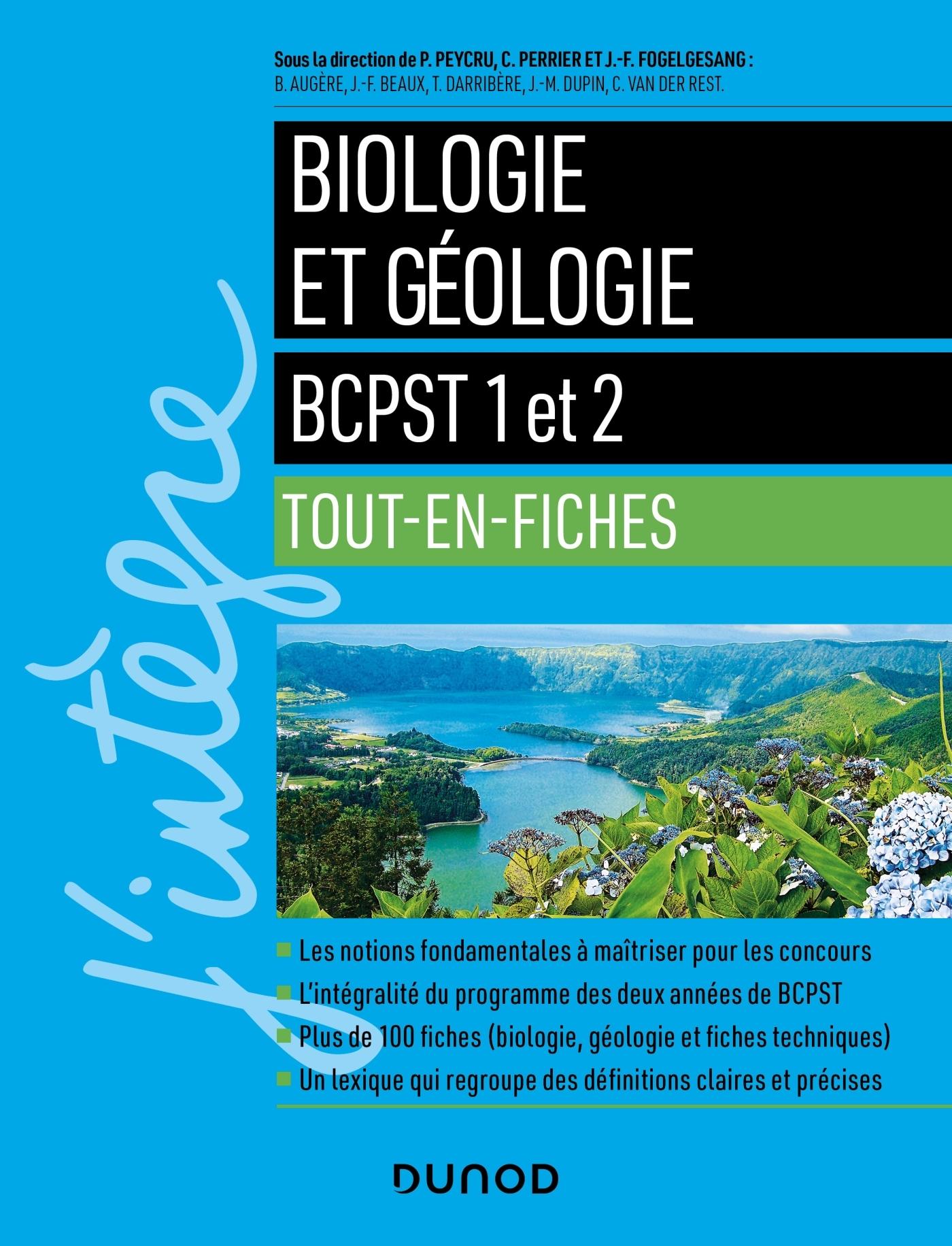 BIOLOGIE ET GEOLOGIE TOUT EN FICHES - BCPST 1 ET 2
