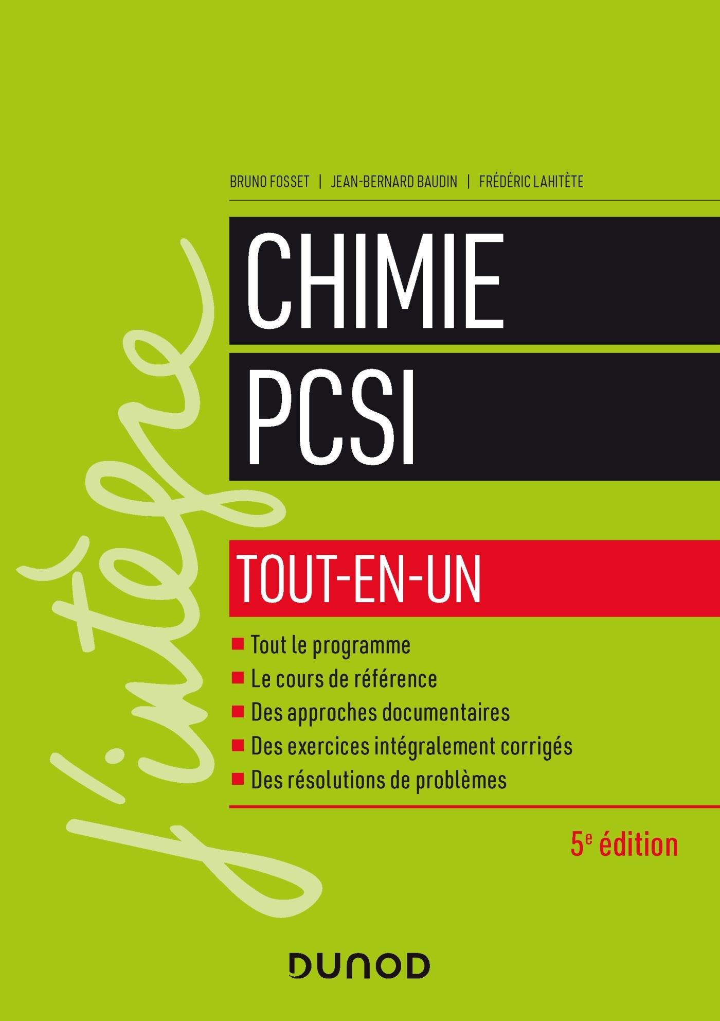 CHIMIE TOUT-EN-UN PCSI - 5E ED.