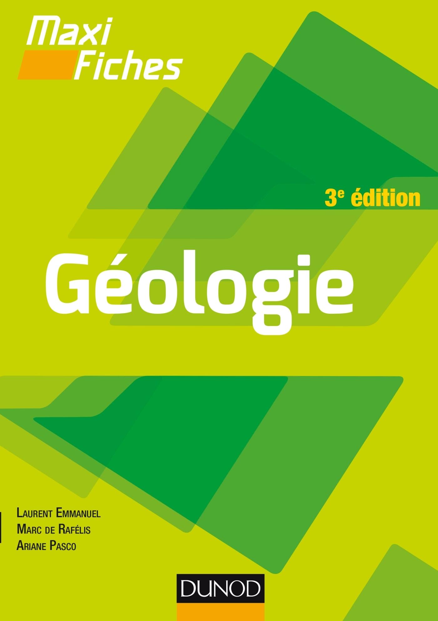 MAXI FICHES DE GEOLOGIE - 3E EDITION - EN 85 FICHES