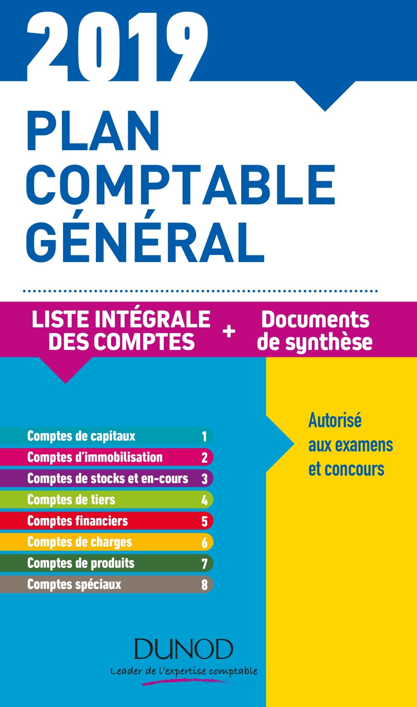 PLAN COMPTABLE GENERAL 2019 - 23E ED. - PLAN DE COMPTES & DOCUMENTS DE SYNTHESE - PLAN DE COMPTES &