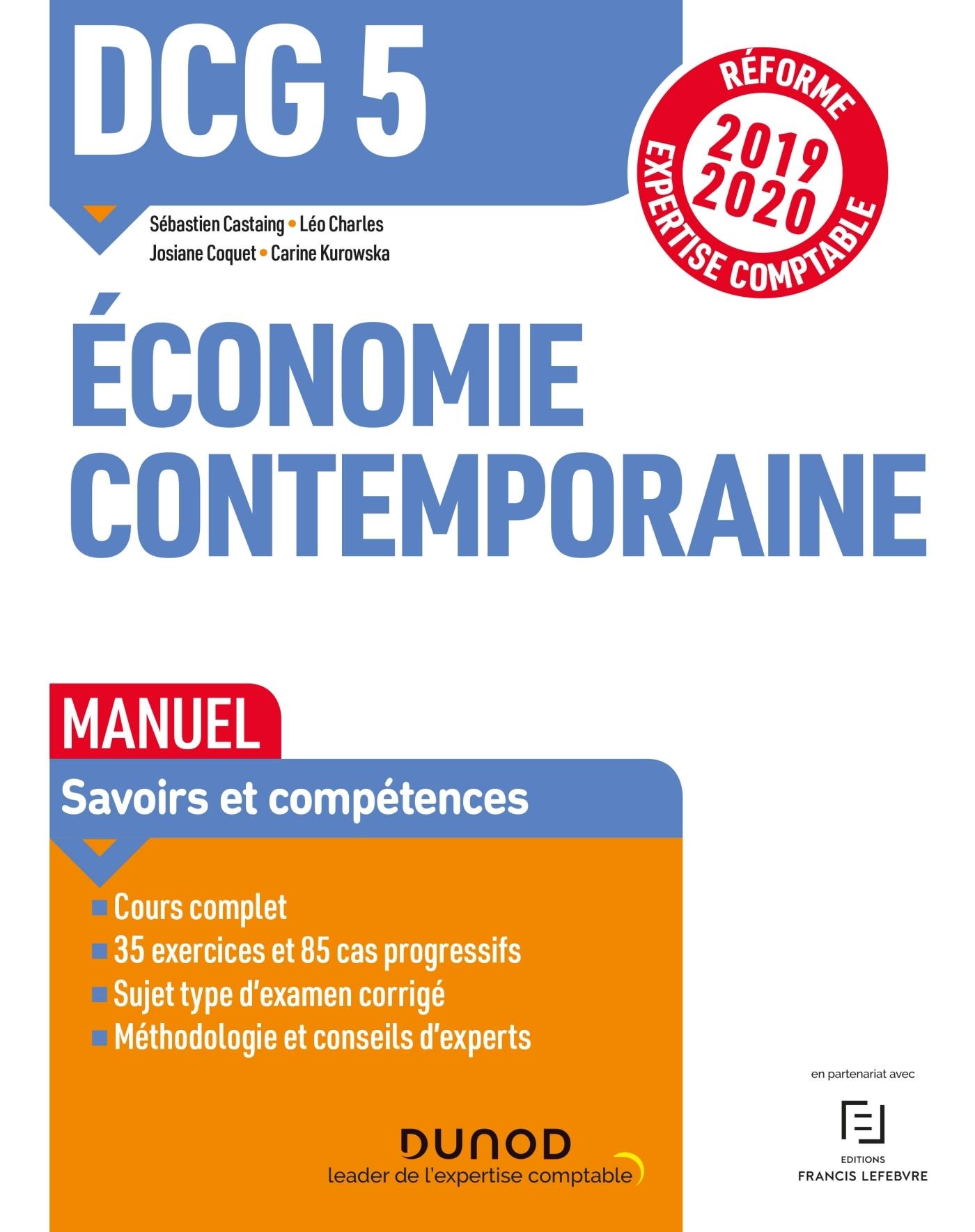 DCG 5 ECONOMIE CONTEMPORAINE - MANUEL - REFORME 2019-2020 - REFORME EXPERTISE COMPTABLE 2019-2020