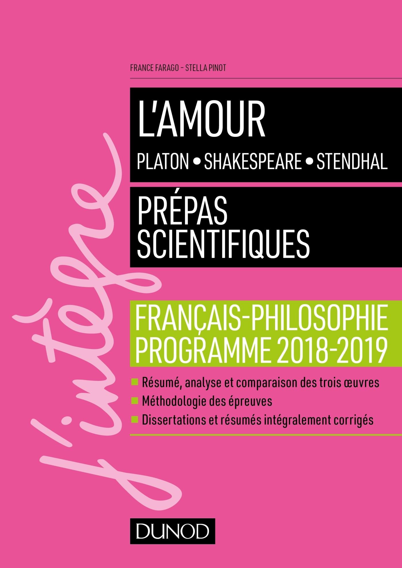 L'AMOUR - EPREUVE DE FRANCAIS-PHILOSOPHIE PREPAS SCIENTIFIQUES 2018-2019