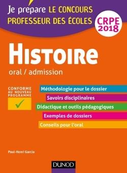 HISTOIRE - PROFESSEUR DES ECOLES - ORAL / ADMISSION - CRPE 2018