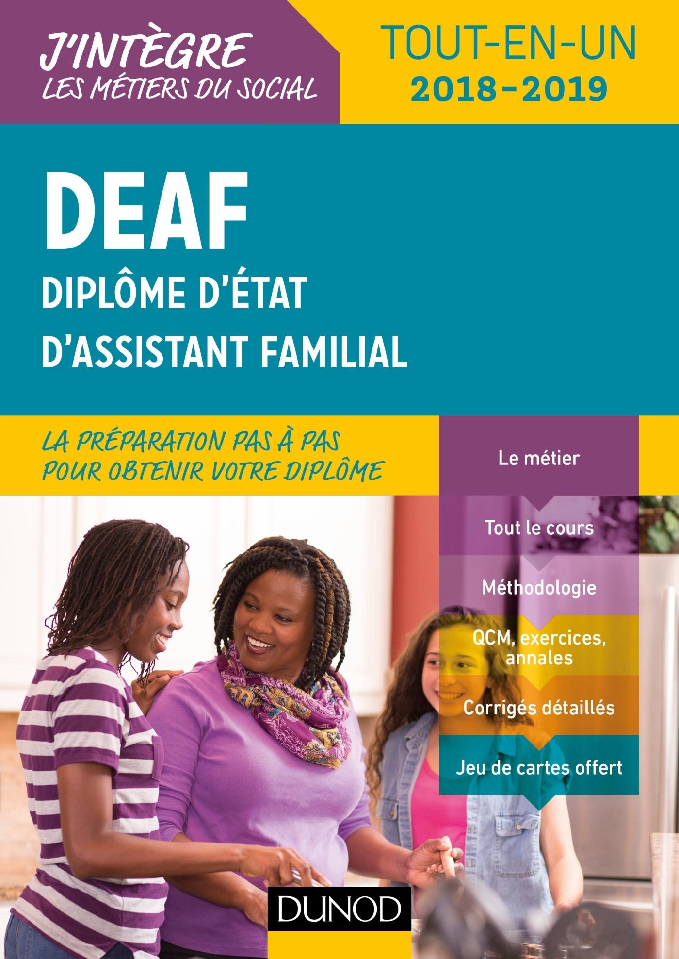 DEAF - TOUT-EN-UN 2018-2019 - DIPLOME D'ETAT D'ASSISTANT FAMILIAL