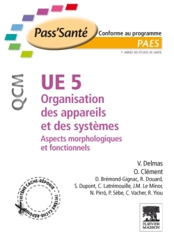 UE 5 - ORGANISATION DES APPAREILS ET DES SYSTEMES - QCM