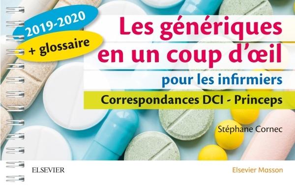LES GENERIQUES EN UN COUP D'OEIL POUR LES INFIRMIERS 2019-2020 - CORRESPONDANCES DCI - PRINCEPS