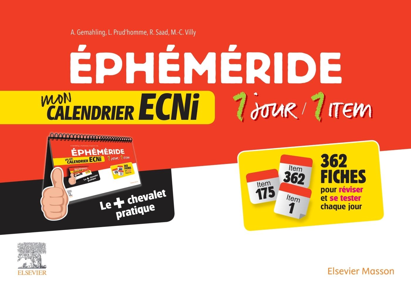 EPHEMERIDE : MON CALENDRIER ECNI. 1 JOUR / 1 ITEM