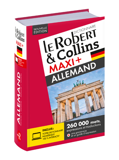 ROBERT & COLLINS MAXI+ ALLEMAND + CARTE TELECHARGEMENT NE
