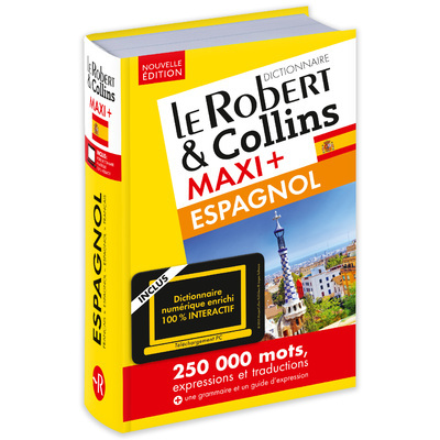 LE ROBERT & COLLINS MAXI+ ESPAGNOL + CARTE TELECHARGEMENT NE