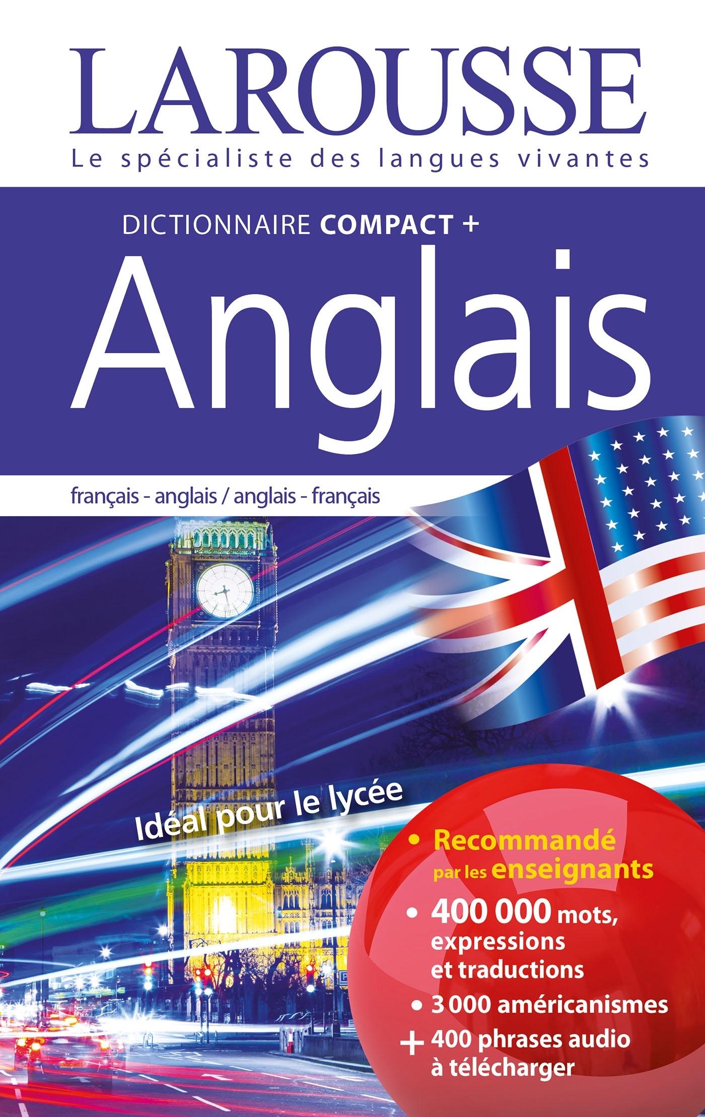 DICTIONNAIRE COMPACT PLUS FRANCAIS-ANGLAIS