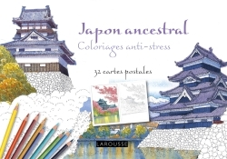 JAPON ANCESTRAL COLORIAGES ANTI-STRESS - 32 CARTES POSTALES