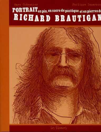 PORTRAIT EN PIN, EN SUCRE DE PASTEQUE ET EN PIERRES DE RICHARD BRAUTIGAN