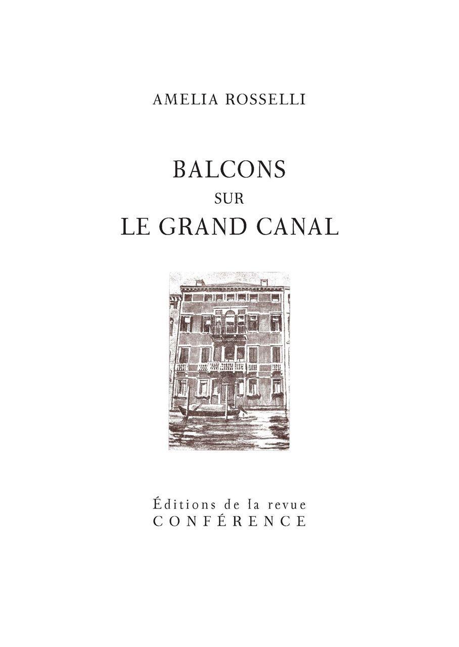 BALCONS SUR LE GRAND CANAL