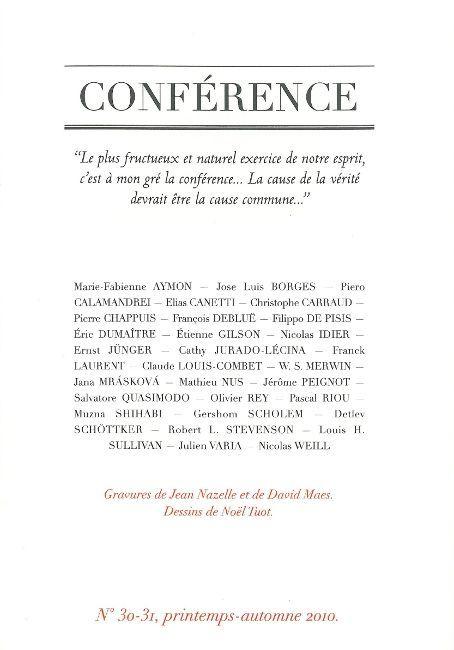 CONFERENCE N 30-31 - PRINTEMPS-AUTOMNE 2010