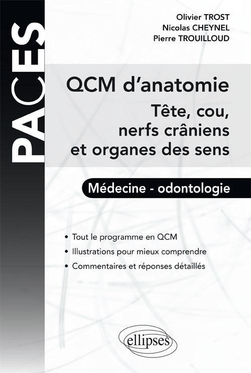 QCM D'ANATOMIE - TETE, COU, NERFS CRANIENS ET ORGANES DES SENS
