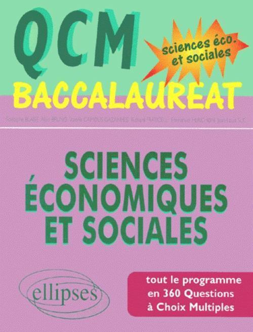 QCM BACCALAUREAT - SCIENCES ECONOMIQUES ET SOCIALES