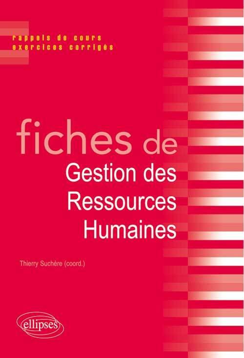 FICHES DE GESTION DES RESSOURCES HUMAINES (GHR)