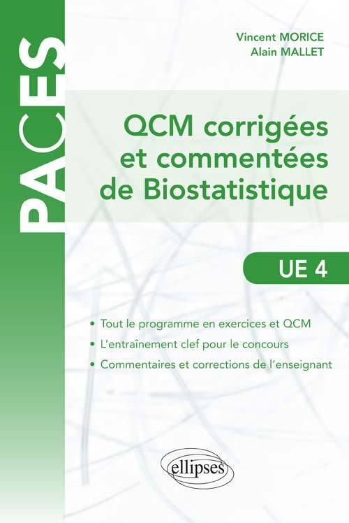 QCM COMMENTEES ET CORRIGEES DE BIOSTATISTIQUE - UE4