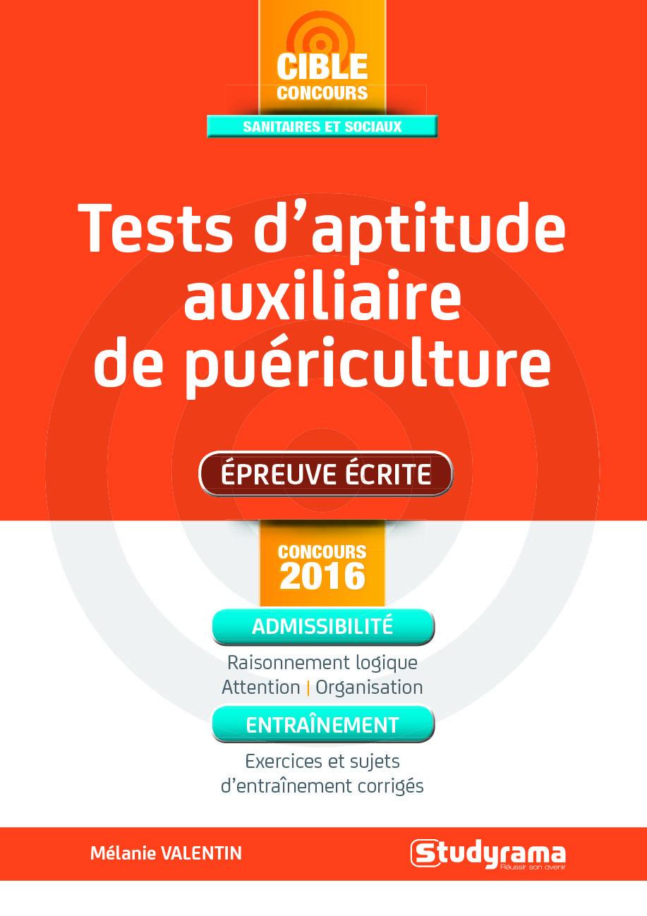 TESTS D'APTITUDE AUXILIAIRE DE PUERICULTURE