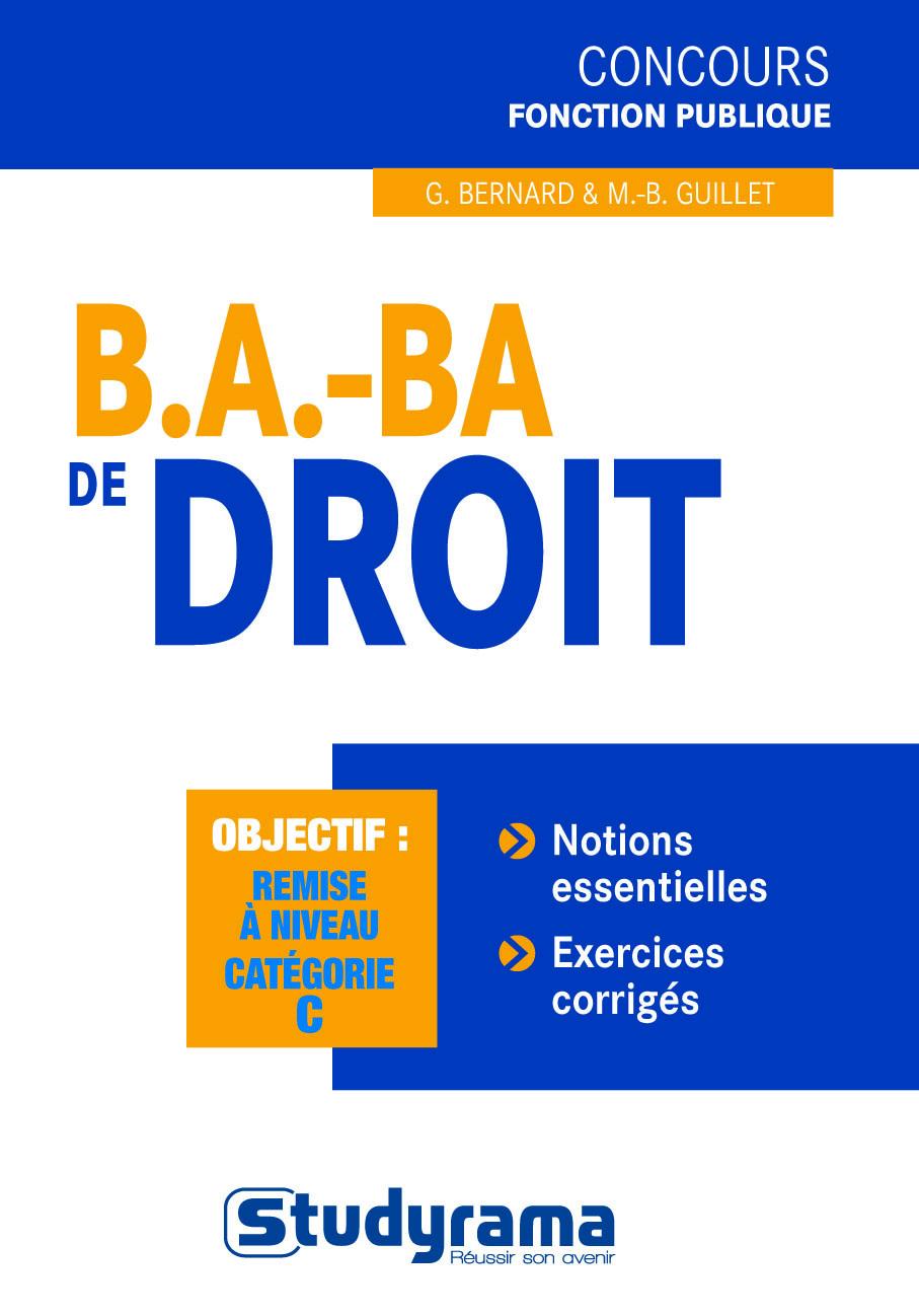 B.A. - BA DE DROIT 3 EDT