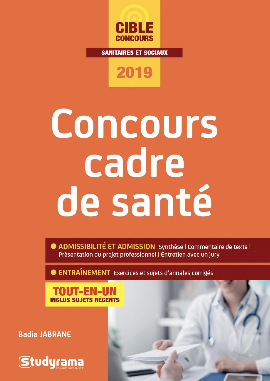 CONCOURS CADRE DE SANTE 2019
