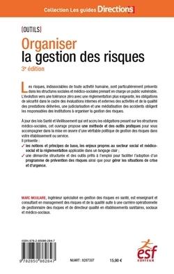 ORGANISER LA GESTION DES RISQUES