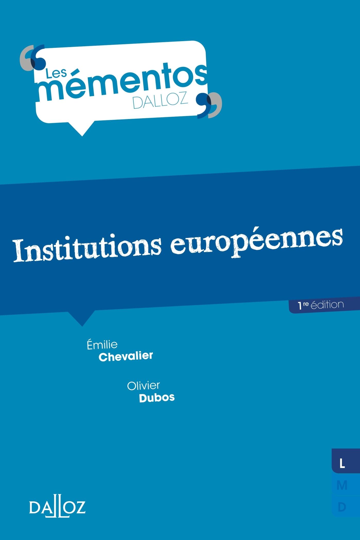 INSTITUTIONS EUROPEENNES - NOUVEAUTE