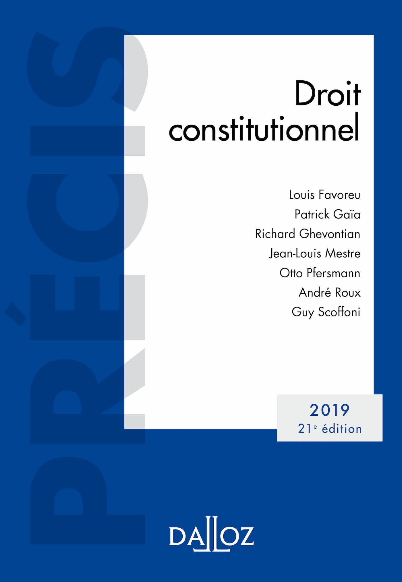 DROIT CONSTITUTIONNEL 2019 - EDITION 2019