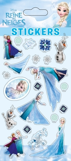 ELSA, LA REINE DES NEIGES, STICKER SHEETS GLIT.