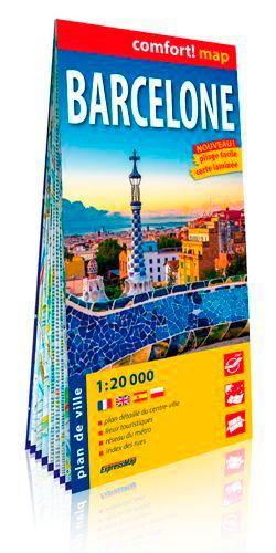 BARCELONE 1/20.000 (CARTE GRAND FORMAT LAMINEE)