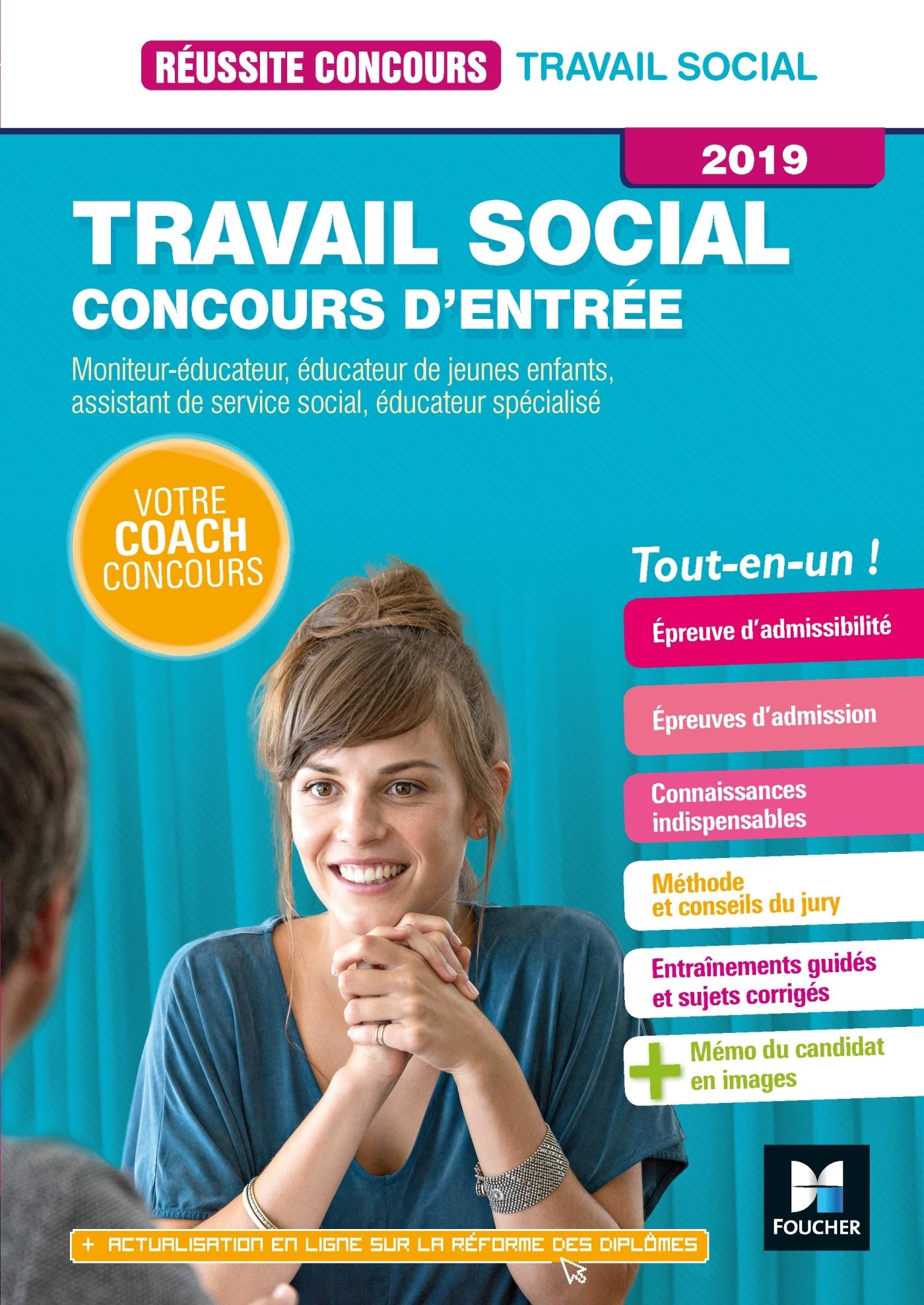 15 - REUSSITE CONCOURS TRAVAIL SOCIAL CONCOURS D'ENTREE 2019- ASS, ES, EJE, ME, TISF PREPARATION COM