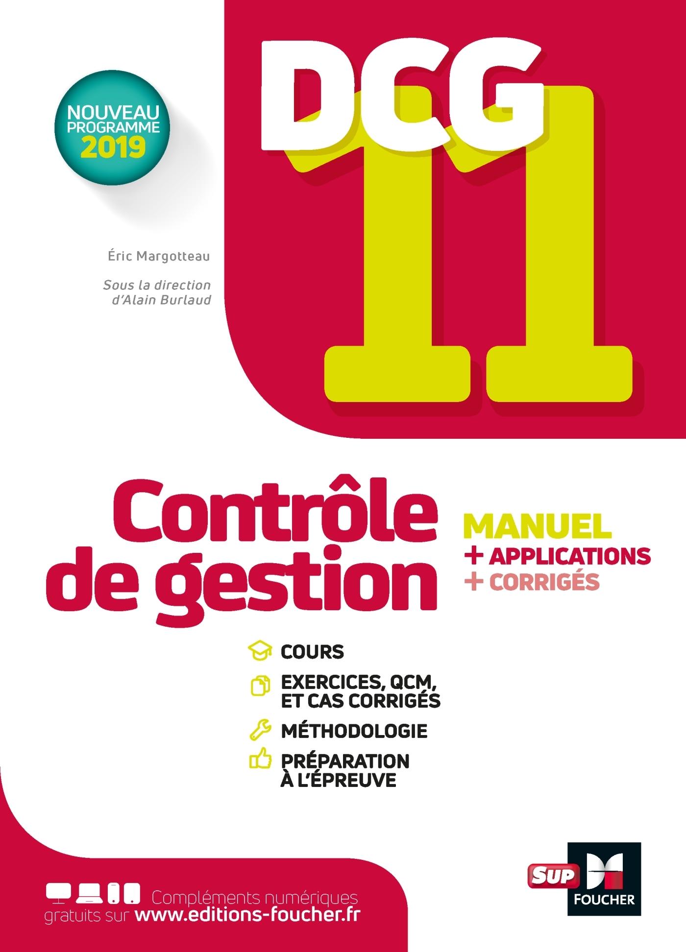DCG 11 - CONTROLE DE GESTION - MANUEL ET APPLICATIONS