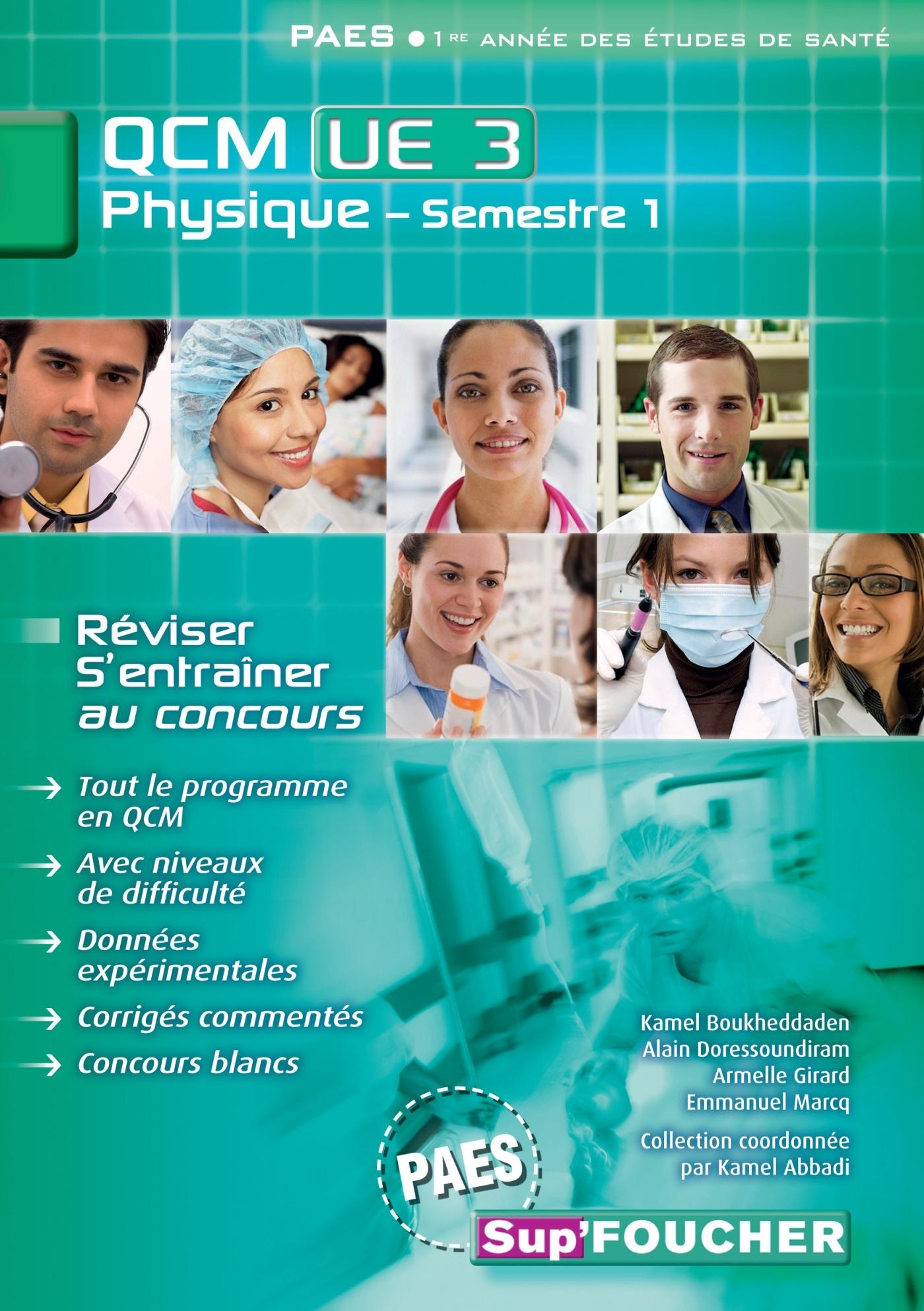 QCM UE3 PHYSIQUE - SEMESTRE 1