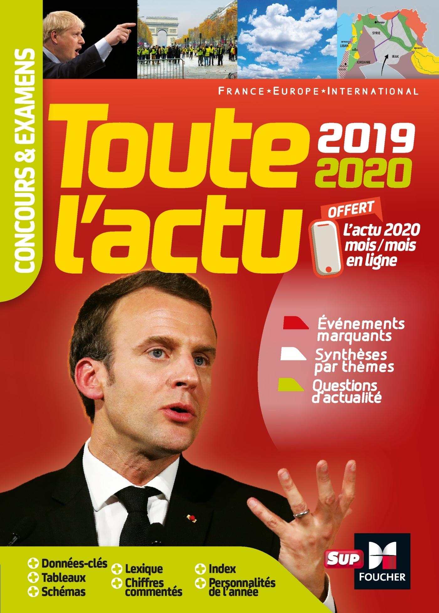 TOUTE L'ACTU 2019 - CONCOURS & EXAMENS - SUJETS ET CHIFFRES CLEFS DE L'ACTUALITE 2020