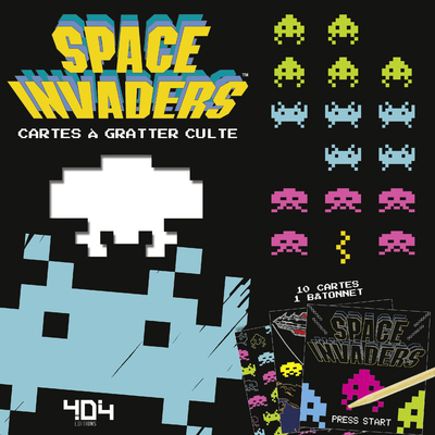 SPACE INVADERS - CARTES A GRATTER CULTE